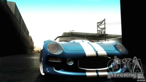 Shelby Series 1 1999 для GTA San Andreas вид изнутри
