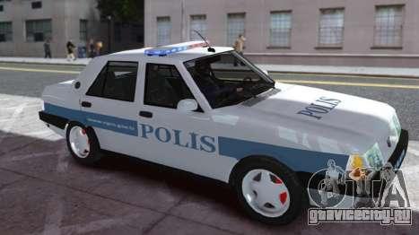 Tofas Sahin Turkish Police ELS для GTA 4 вид слева