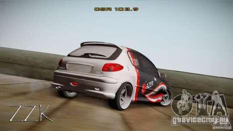 Peugeot 206 Shark Edition для GTA San Andreas вид слева