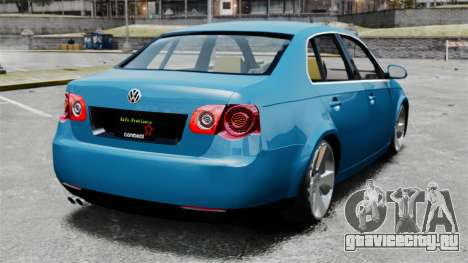 Volkswagen Jetta 2010 для GTA 4 вид сзади слева