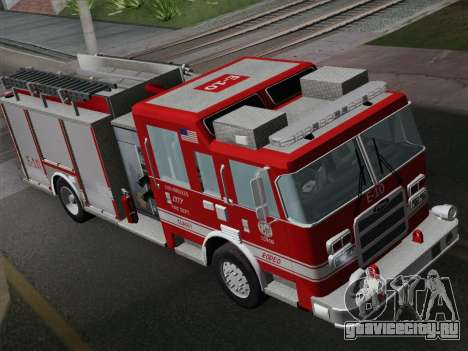 Pierce Saber LAFD Engine 10 для GTA San Andreas вид сзади