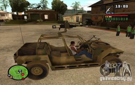 FAV Buggy из Battlefield 2 для GTA San Andreas вид слева