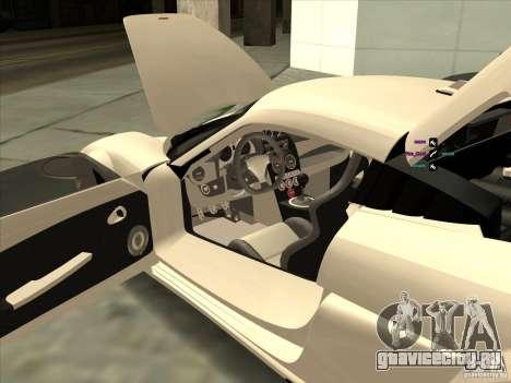 Noble M600 для GTA San Andreas вид изнутри