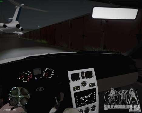 Lada 2170 для GTA San Andreas вид изнутри
