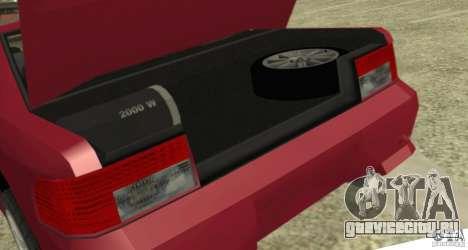 Sultan SRX для GTA San Andreas вид сзади