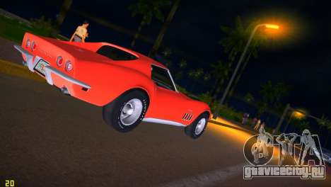 Chevrolet Corvette (C3) Stingray T-Top 1969 для GTA Vice City вид сбоку
