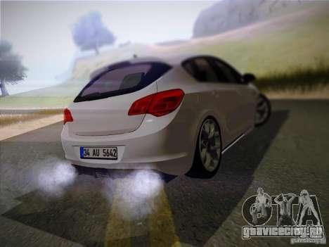 Opel Astra Senner Lower Project для GTA San Andreas вид сзади слева