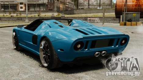 Ford GTX1 2006 для GTA 4 вид сзади слева