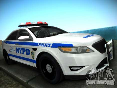 Ford Taurus NYPD 2011 для GTA San Andreas вид сзади слева