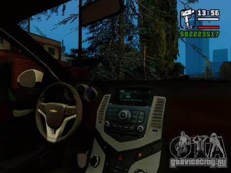 Chevrolet Cruze для GTA San Andreas вид сверху