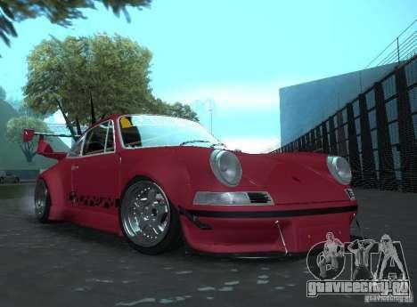 Porsche Carrera RS RWB для GTA San Andreas вид сзади слева
