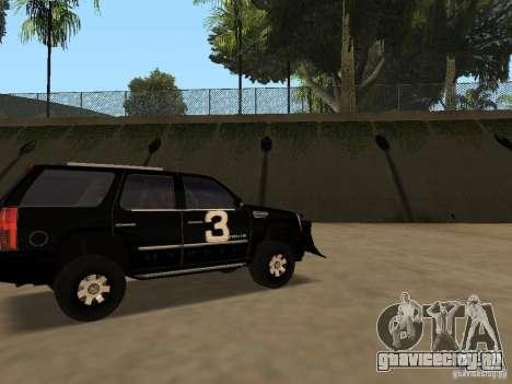 Cadillac Escalade Таллахасси для GTA San Andreas вид слева