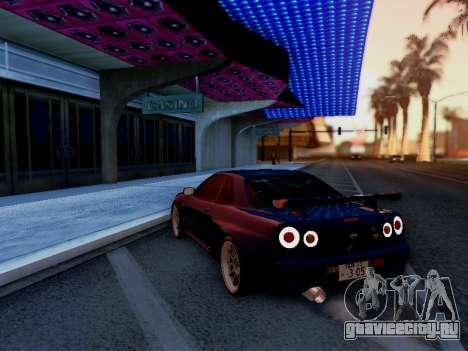Nissan Skyline BNR34 GT-R для GTA San Andreas вид слева