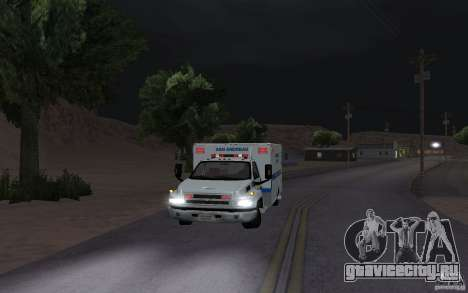 Chevrolet C4500 Ambulance для GTA San Andreas вид слева