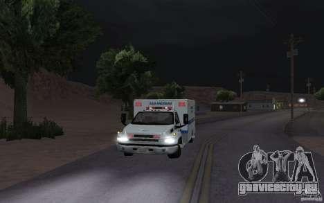 Chevrolet C4500 Ambulance для GTA San Andreas вид слева