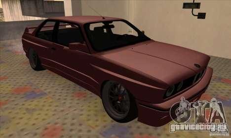 BMW M3 E30 1990 для GTA San Andreas вид сзади слева