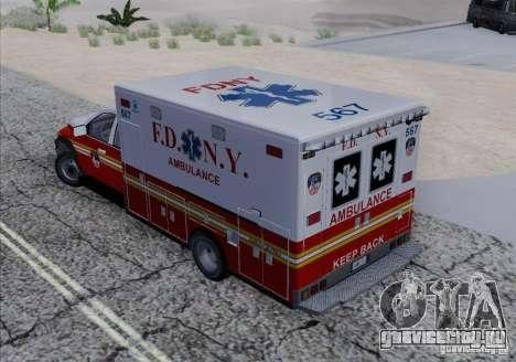 Dodge Ram Ambulance для GTA San Andreas вид изнутри