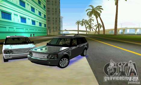Land Rover Range Rover Supercharged 2008 для GTA Vice City вид снизу