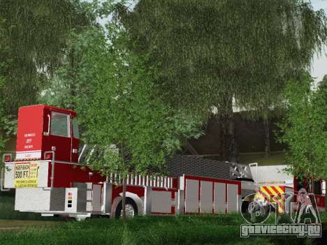 Pierce Arrow XT LAFD Tiller Ladder Truck 10 для GTA San Andreas вид изнутри
