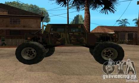 Monster Patriot для GTA San Andreas вид сзади слева