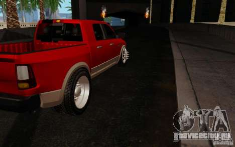 Dodge Ram 3500 Tuning для GTA San Andreas вид справа