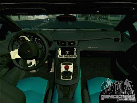Lamborghini Aventador LP700-4 2012 для GTA San Andreas вид сзади слева