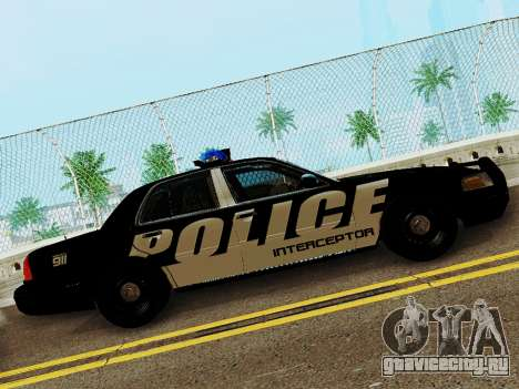 Ford Crown Victoria Police Interceptor 2011 для GTA San Andreas вид слева