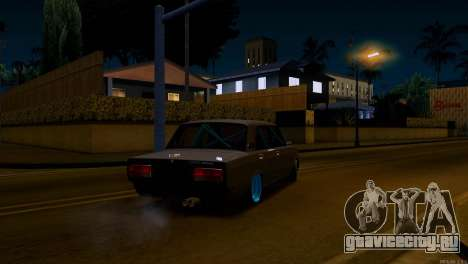 Ваз 2107 Боевая Классика для GTA San Andreas вид сзади слева