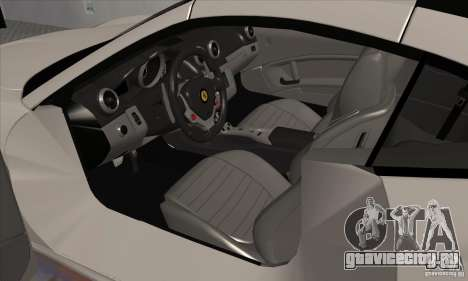 Ferrari California Hamann для GTA San Andreas вид сзади