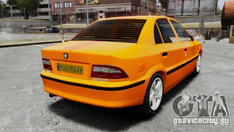 Iran Khodro Samand LX Taxi для GTA 4 вид сзади слева