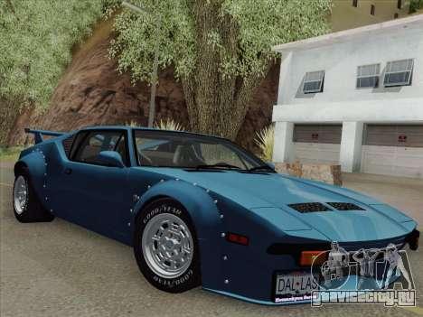 De Tomaso Pantera GT4 для GTA San Andreas вид сзади слева