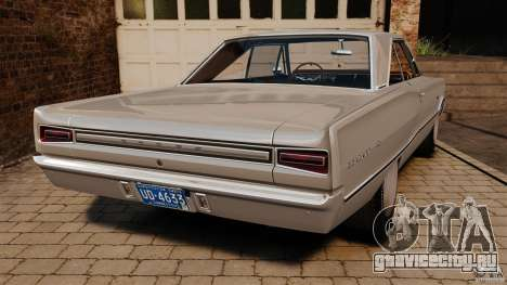 Dodge Coronet 1967 для GTA 4 вид сзади слева