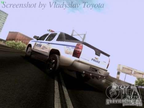Chevrolet Avalanche 2007 для GTA San Andreas вид слева