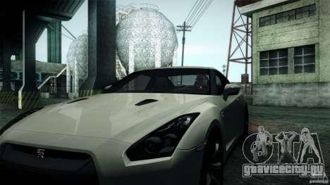 Nissan GT-R35 v1 для GTA San Andreas вид сзади слева