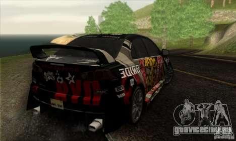 Mitsubishi Lancer Evolution X 2008 для GTA San Andreas двигатель