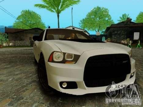 Dodge Charger SRT8 2012 для GTA San Andreas вид сзади