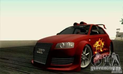 Audi A3 Tunable для GTA San Andreas вид сзади
