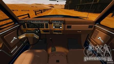 Ford Bronco 1980 для GTA 4 вид справа