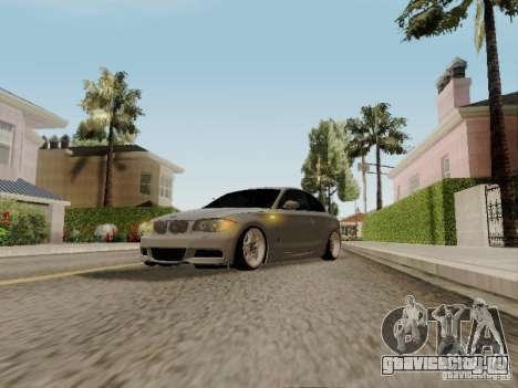 BMW 135i для GTA San Andreas вид сзади