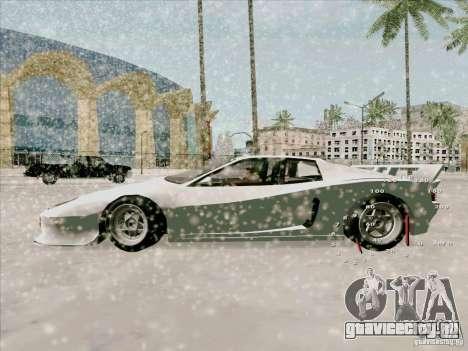 Ferrari Testarossa Custom для GTA San Andreas вид сзади слева