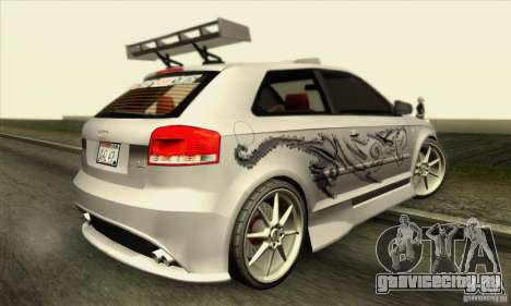 Audi A3 Tunable для GTA San Andreas салон