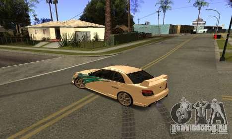 Subaru Impreza WRX STi 2006 для GTA San Andreas вид сзади