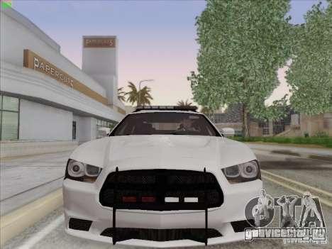 Dodge Charger 2012 Police для GTA San Andreas вид слева