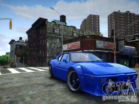 BMW M1 Replica для GTA 4 вид сзади слева