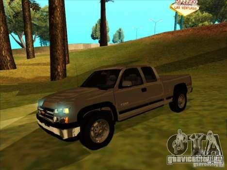 Chevrolet Silverado 2006 4x4 для GTA San Andreas вид слева