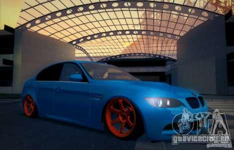 BMW M3 E90 для GTA San Andreas вид снизу