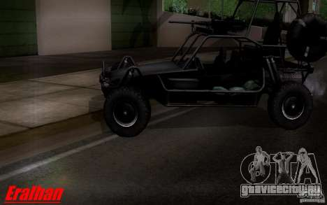 Desert Patrol Vehicle для GTA San Andreas вид сзади слева