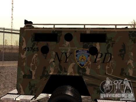 Lenco Bearcat NYPD для GTA San Andreas вид сзади слева