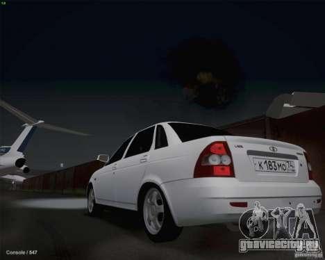 Lada 2170 для GTA San Andreas вид сзади