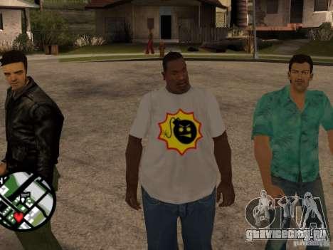 Новая футболка для GTA San Andreas второй скриншот